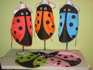 Apron-Smock-Art-Finger-Paint-Chef-Cook-Preschool-Toddler-Kids-Ladybug-Insect-NWT