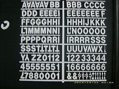 "New  White 1"" Menu & Message Board Letters & Numbers periods,hyphens,commas etc"