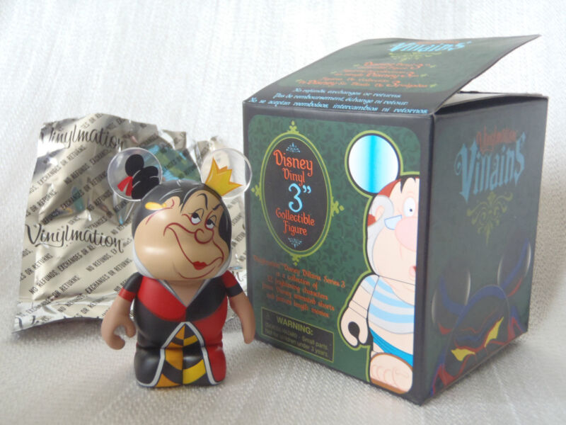 Disney Vinylmation Villains Series #3 Alice In Wonderland QUEEN OF HEARTS Figure