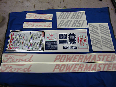 801 841 851 861 FORD TRACTOR POWERMASTER DECAL KIT