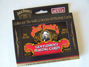 JACK DANIELS - Playing Cards in Collector Tin - 2 Decks - HOYLE