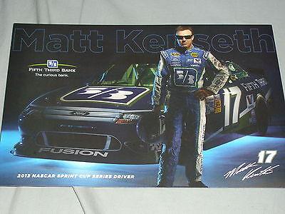 2012 Matt Kenseth  17 Fifth Third Bank Version 2 Nascar Postcard