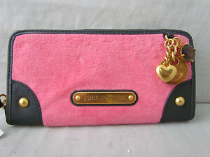 Authentic-Juicy-Couture-Velour-Charms-Zip-Wallet-88-Retail