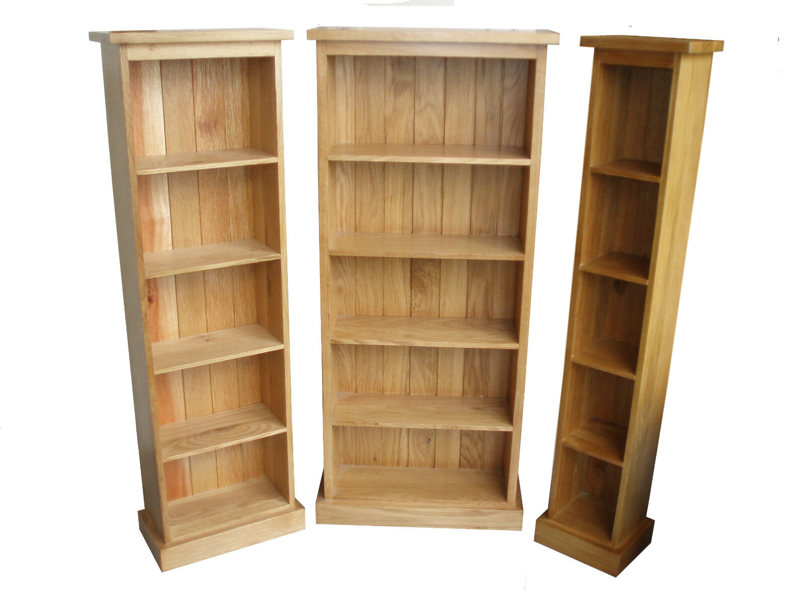 Dvd / Cd Storage Tower Triple, Double, Single, 100% Solid Oak Free Delivery