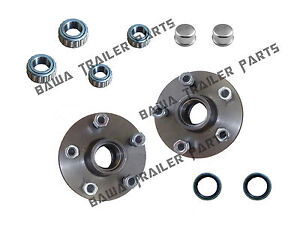5-STUD-HOLDEN-COMMODORE-HUBS-WITH-FORD-or-SLIMLINE-BEARING-KITS-TRAILER-HUBS