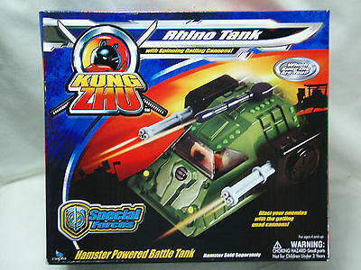 Zhu Zhu Pets Kung Zhu Rhino Tank Special Forces With Gatling Cannons