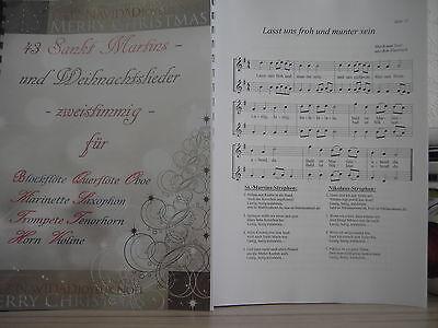43 Sankt-Martins- und Weihnachtslieder für Querflöte - zweistimmig