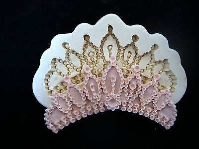 Tiara, Silicone Mold Chocolate Polymer Clay Jewelry Soap Melting Wax Resin