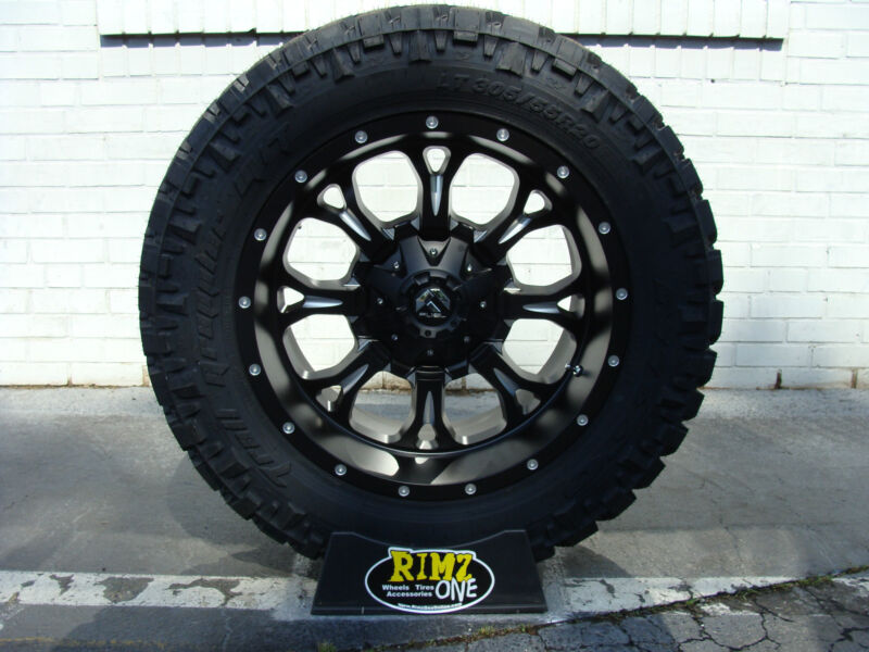 "20"" 20x10 Fuel Offroad D517 Wheels Krank Nitto Trail 35x12.50r20 35"" Tires"