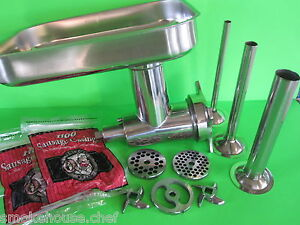 Meat Grinder attachment for Hobart 4212 4812 a200 h600 d300 a2007 a120 + EXTRAS