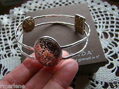 Silpada Sterling Silver, Bronze romance Novel Bangle Bracelet B2415 $229