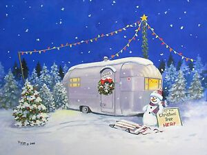Christmas-Airstream-Vintage-Travel-Trailer-Snowman-ART