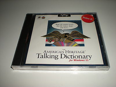 American Heritage Talking Dictionary Cd For Windows 95 Only. Retail Sealed.