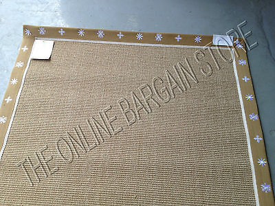 Ballard Designs Christmas Snowflake Winter Sisal Jute Door Border Area Rug 2x3'