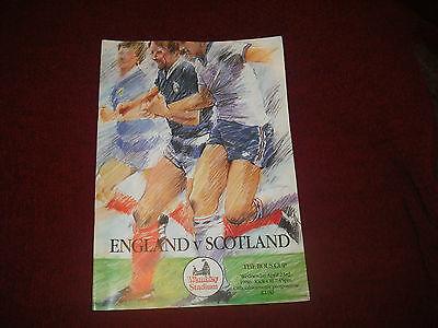 England Scotland Rous Cup programme 1986