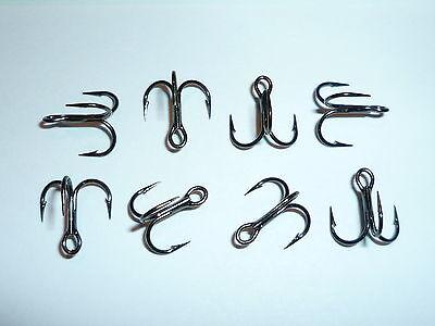 100 VMC SHORT-SHANK 1X TREBLE HOOKS - SIZE 14 - BLACK - 9651