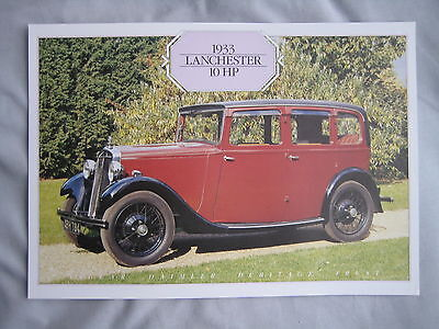 1933 Lanchester 10 HP Specification Sheet
