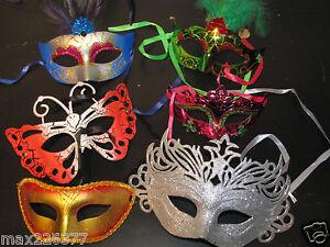 New Mardi Gras Masquerade Party Favor Weddings Halloween Masks Lot Of 6 Mask