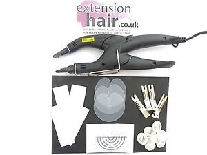 FUSION HEAT CONNECTOR/GUN KIT FOR APPLICATIONN OF PRE-BONDED HAIR EXTENSIONS