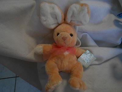 Commonwealth 2003 Plush 12 Peach Pink White Floppy Eared Bunny Rabbit