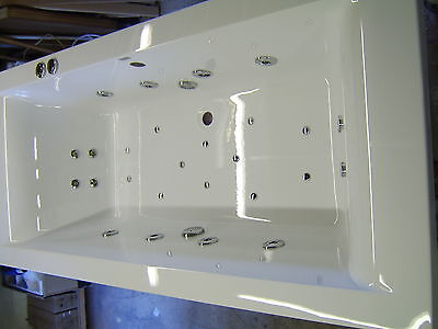 Whirlpool Hydro System CUBE 1700 x 750 Bath - 28 Jet  & Colour Changing Light
