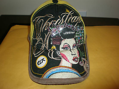 Kids Youth Christian Audigier Yellow Hat With Tags