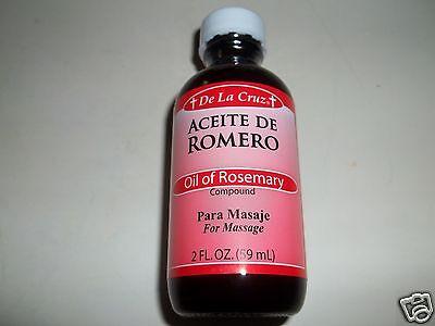 De La Cruz Aceite De Romero Oil Of Rosemary 2 Oz For Massage