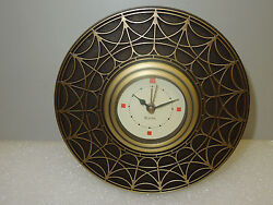BULOVA TABLE- ALARM CLOCK FRANK LLOYD WRIGHT BLOSSOM HOUSE TABLE CLOCK B7763