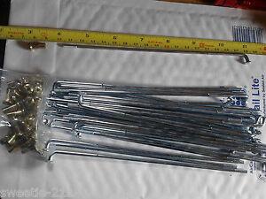 Motorcycle Wheel Spoke & Nipple Set 10/11 Gauge 175mm Long