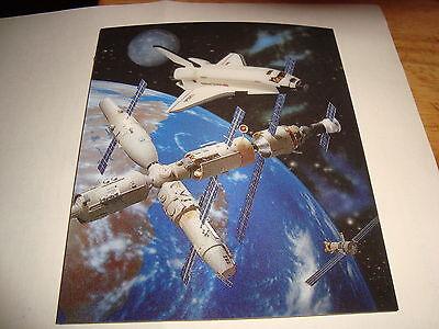 Nasa Usa Space Shuttle Mini Poster 3d Lenticular 5 1/2 X 6 1/2 Nice Item