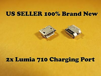 2 X Nokia Lumia 710 T-mobile Dock Connector Charging Port Replacement Part