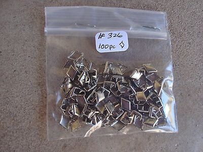 100 Pc Silver Diamond Nail Head Studs 6 Prong 3/8 Long Crafts/decorating