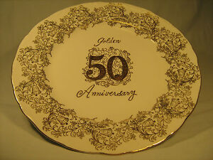 Y5-10-1-4-COLLECTOR-PLATE-GOLDEN-50-ANNIVERSARY-Norcrest-Fine-China