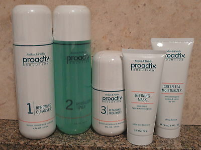 Proactiv 120 day Kit (3pc+2.5oz Green Tea Moisturizer&Mask)New Formula Proactive on Rummage
