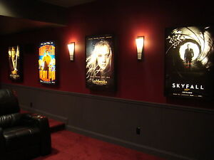lighted movie poster frame ebay