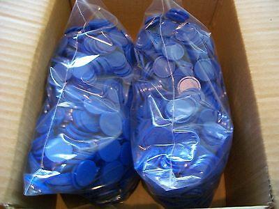 2000 Einkaufswagenchips  Wertmarken Pfandmarken Event Veranstaltung Ekw 02 Blau