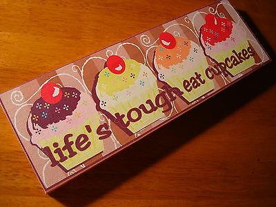 Lifes Tough Eat Cupcakes Bakery Cafe Coffee Shop Kitchen Cake Baker Decor Sign
