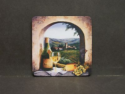 Tuscan Arch Wine Grapes Coasters Set Of 4 Rubber Backed