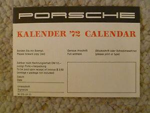 1972-Porsche-Christophorus-Calendar-Order-Form-Return-Postcard-RARE-L-K