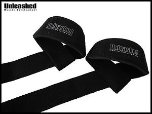 UNLEASHED WEIGHT LIFTING STRAPS. WEIGHTLIFTING BODYBUILDING WRIST BAR SUPPORT