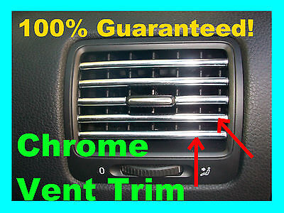 Chrome Vent Trim Dash Dress Up Molding Interior Kit Fits: (suzuki)