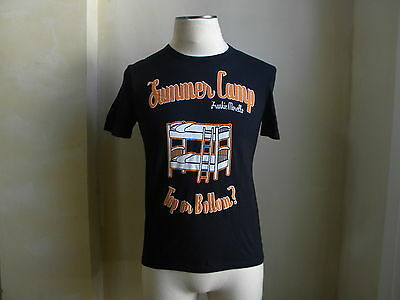 "FRANKIE MORELLO HOT MUSCLE FIT SUMMER CAMP ""TOP OR BOTTOM"" BLACK FUN T SHIRT XS"