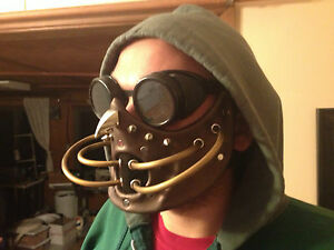Handmade-leather-art-spikes-gas-mask-goggles-steampunk-LARP-cosplay-horror