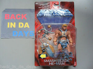 MOTU HE-MAN Modern 200X New In Box 100% Complete CHeAP SMASH (Spin) BLADE HEMAN