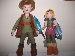 HOW TO TRAIN YOUR DRAGON HICCUP & ASTRID Plush / Soft Toys -NEW-