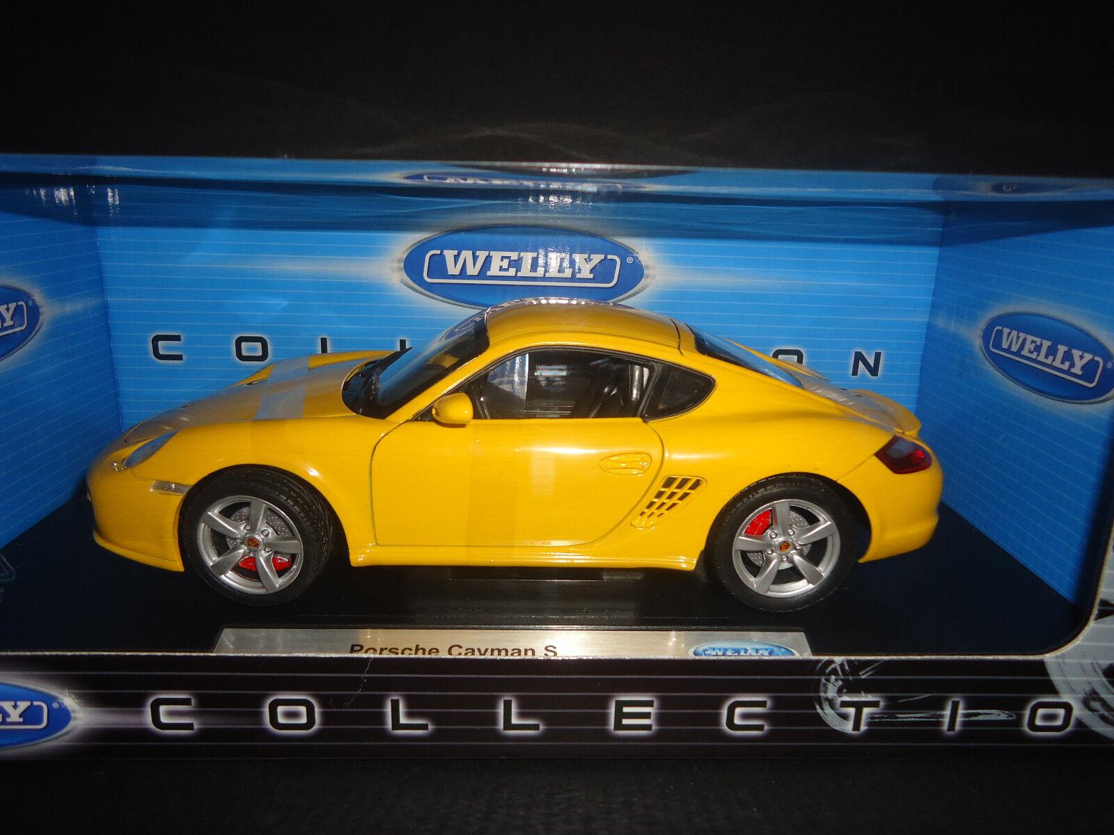 Welly Porsche Cayman S Yellow 1/18