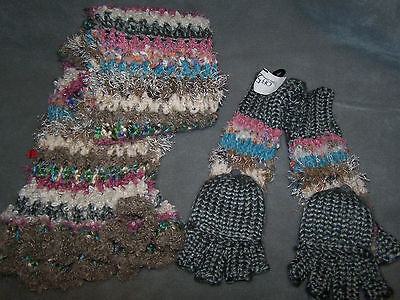 Saks Fifth Avenue Gloves And Scarf Set