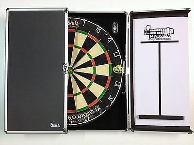 Dart Board Set Aluminium Dart Board Cabinet & Micro Band 2 Dart Board Rrp $330