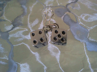 LAS VEGAS CASINO JEWELRY 1 SET of PEWTER DICE ZIPPER - PULL or PENDANT All New