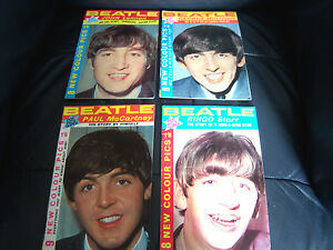 ORIGINAL1964-THE-BEATLES-POP-PICS-FULL-SET-ALL-4-PAUL-GEORGE-RINGO-JOHN
